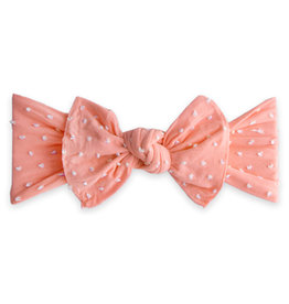Patterned Shabby Knot, Coral Dot