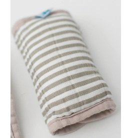 Car Seat Strap Covers - Grey Stripe