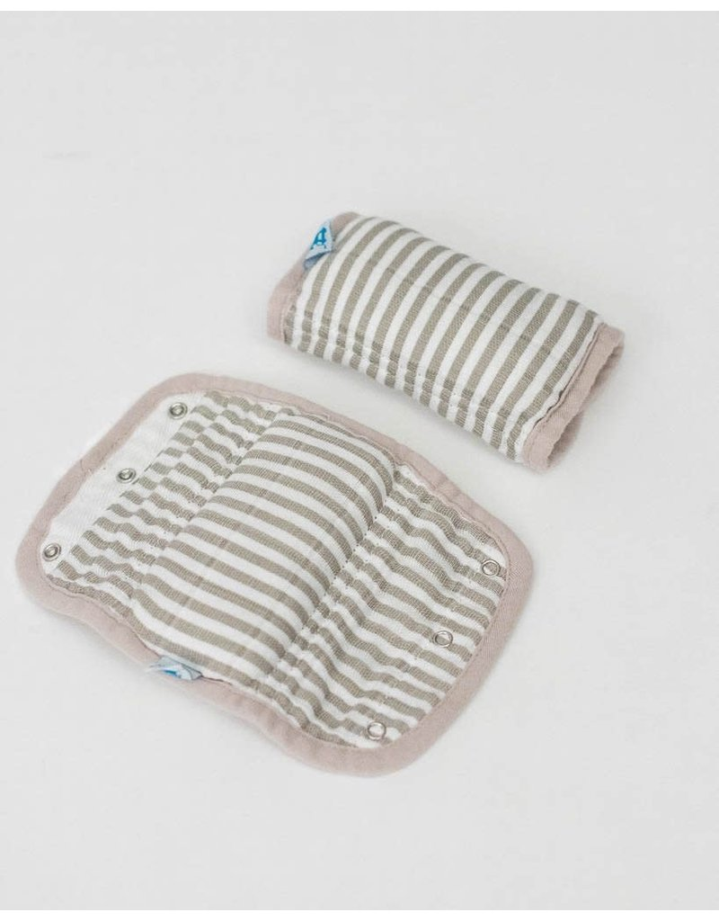 Car Seat Strap Covers - Grey Stripe