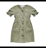 Colette Button Dress, Olive