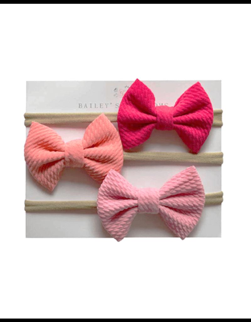 Variety Headbands, Fuschia/Coral/Pink