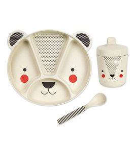 Petit Collage Bamboo Baby Dinnerware Set, Bear