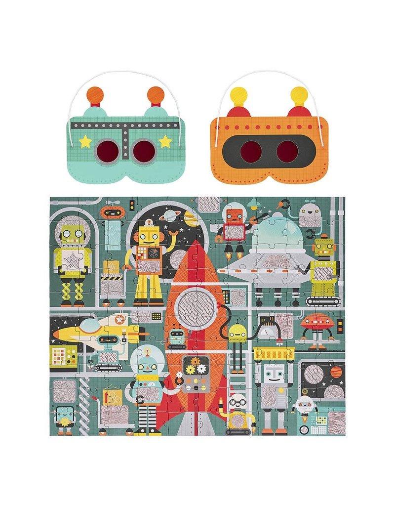 Petit Collage Robot Factory 100 Pc Puzzle