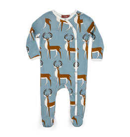 Milkbarn Kids Footed Romper, Buck