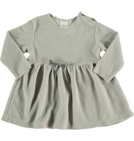 Velour NB Dress, Ice