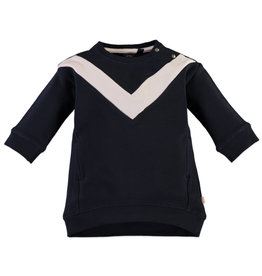 Baby Girl Sweatdress, Black Navy