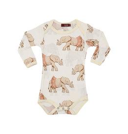 Milkbarn Kids Long Sleeve Onesie, Tutu Elephant