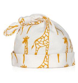 Milkbarn Kids Knotted Hat, Yellow Giraffe
