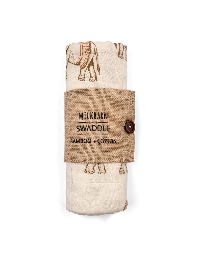 Milkbarn Kids Bamboo Swaddle, Tutu Elephant