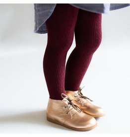 Little Stocking Co Wine Cable Knit Tights