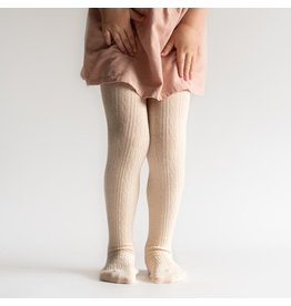 Little Stocking Co Vanilla Cream Cable Knit Tights