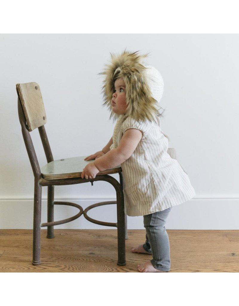 Lennon Lion Bonnet, Cream