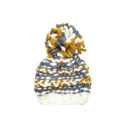 Hand Knit Beanie, Charlie Gray XS 3-12m