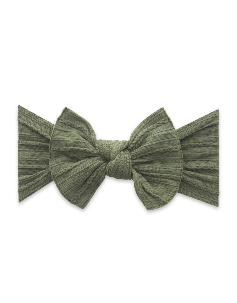 Cable Knit Knot, Army Green