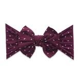 Patterned Shabby Knot, Burgundy Dot