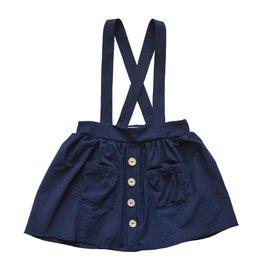 Daphne Suspender Skirt, Navy