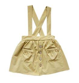 Daphne Suspender Skirt, Beige