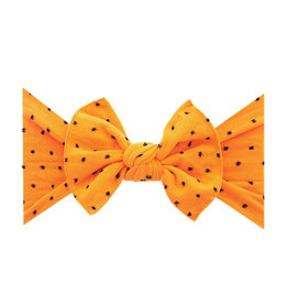 Patterned Shabby Knot, Orange Black Dot