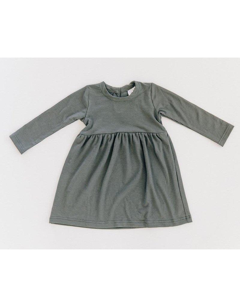 Mebie Baby Ribbed Twirl Dress, Fern