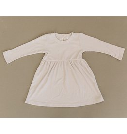 Mebie Baby Ribbed Twirl Dress, Vanilla