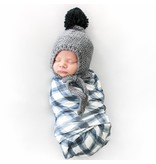Blueberry Hill Ash Bonnet, Gray 0-3m
