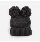 Blueberry Hill Paxton Pom Pom Knit Hat, Dark Gray 12-24m