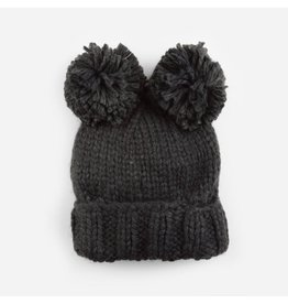 Blueberry Hill Paxton Pom Pom Knit Beanie, Dark Gray 12-24m
