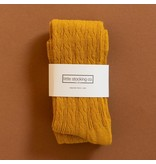 Little Stocking Co Golden Yellow Cable Knit Tights