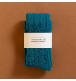 Little Stocking Co Capri Cable Knit Tights