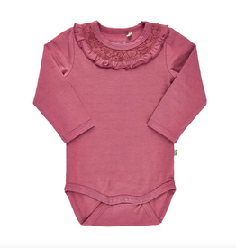 Rose Wine Ruffle Onesie