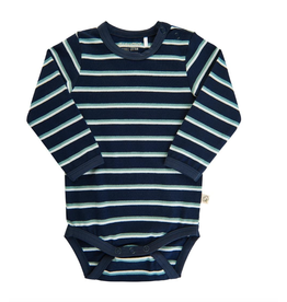 Bodysuit, Navy/Arctic Stripe
