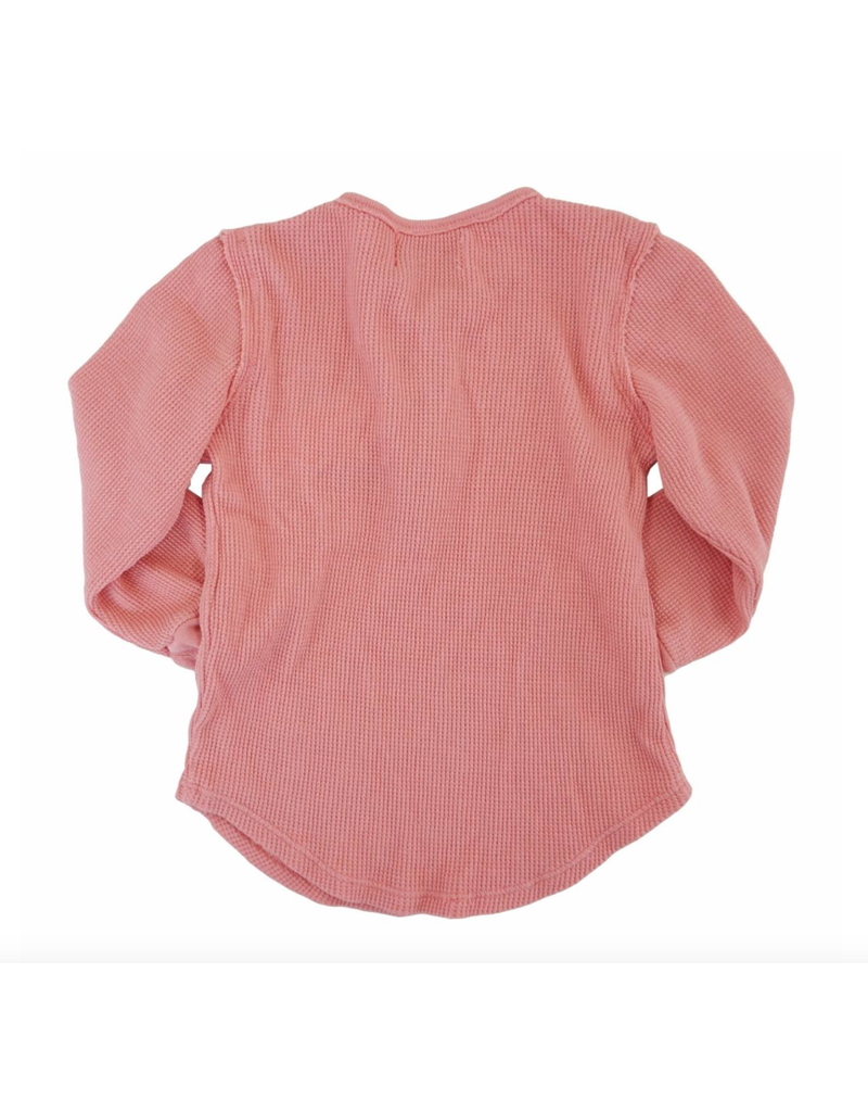 Miki Miette Long Sleeve Thermal, Sunset Pink