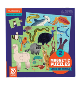 Magnetic Puzzle, Land & Sea Animals