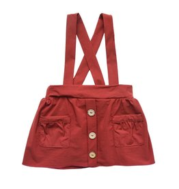 Daphne Pleated Suspender Skirt, Wine