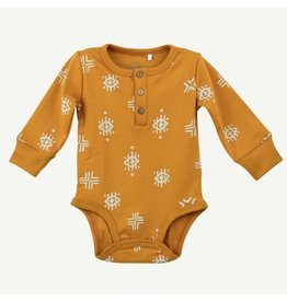 Oliver and Rain Aztec Print Bodysuit, Gold