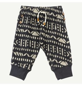 Oliver and Rain Aztec Print Pant, Charcoal