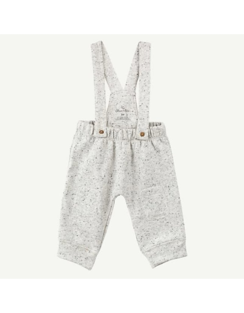 Oliver and Rain Oatmeal Heather Overalls