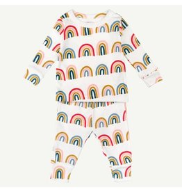 Oliver and Rain Two-piece Pajama Set, Rainbow