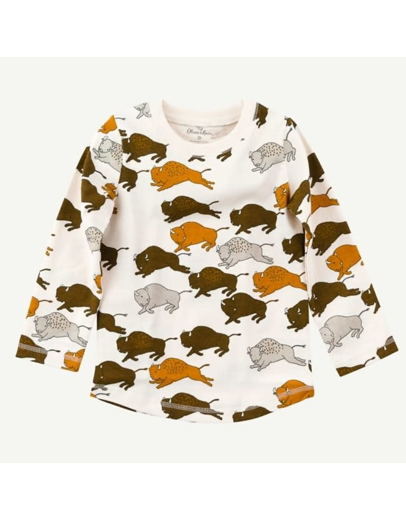 Oliver and Rain Buffalo LS Tee Toddler