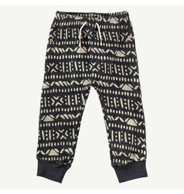 Oliver and Rain Aztec Print Pant, Charcoal Toddler