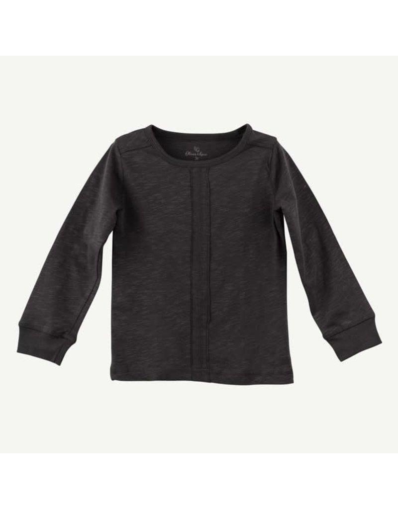 Oliver and Rain Organic Long Sleeve, Charcoal Grey