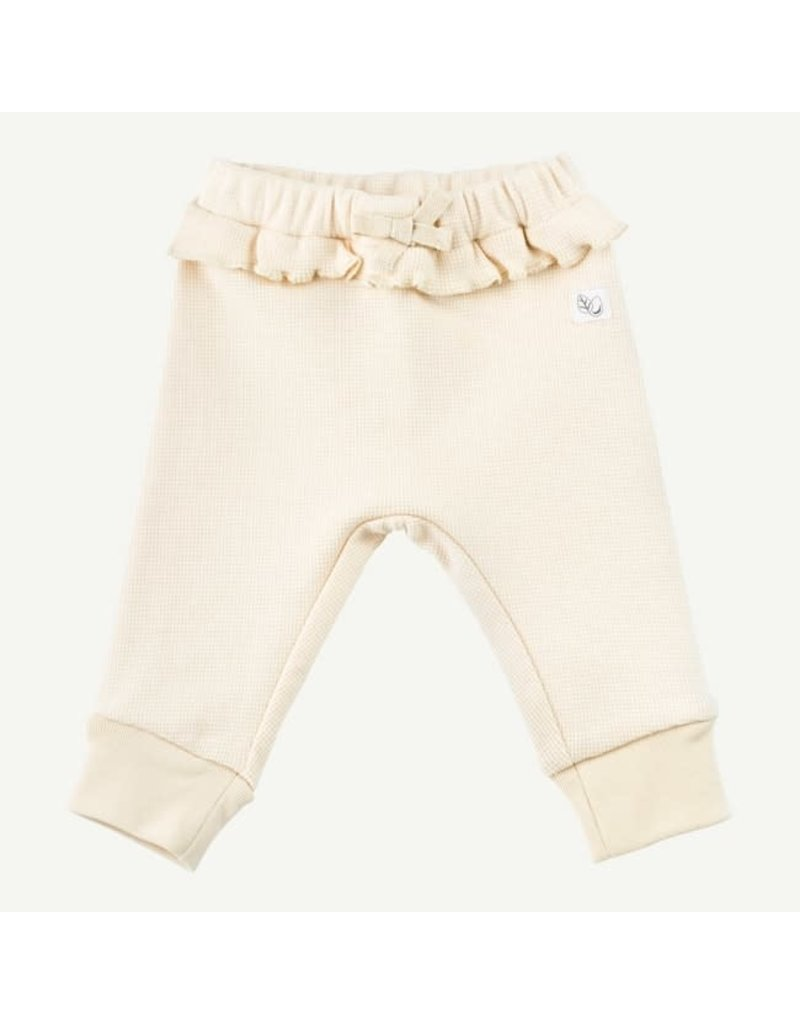 Oliver and Rain Thermal Ruffle Pant, Ivory