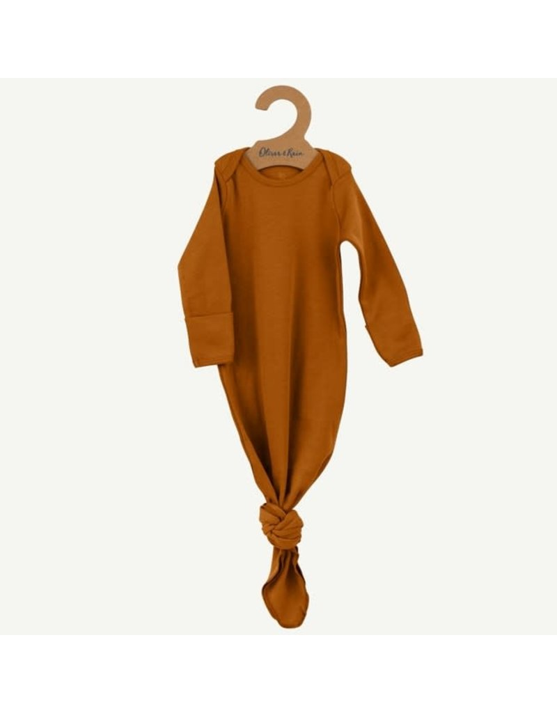 Oliver and Rain Cotton Baby Gown, Copper OS