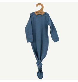 Oliver and Rain Cotton Baby Gown, Slate Blue OS