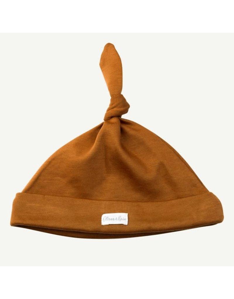 Oliver and Rain Cotton Cap, Copper 0-12m