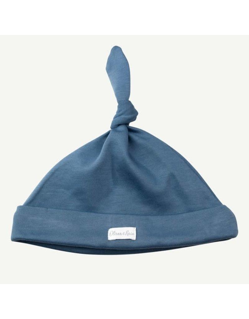 Oliver and Rain Cotton Cap, Slate Blue 0-12m