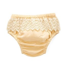 Yo Baby Diaper Cover with Lace, Cream