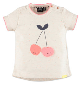 Speckle Cherry Tee, Happy Friends