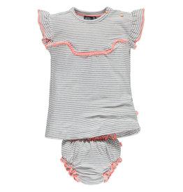 Sena Stripe Top + Bloomer Set, Hot Pink