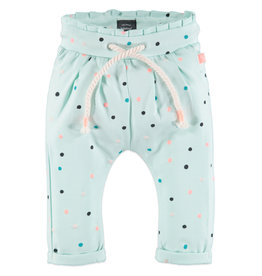 Baby Girl Sweatpants, Mint Speckle